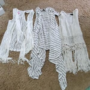 Lot of 3 adorable vests